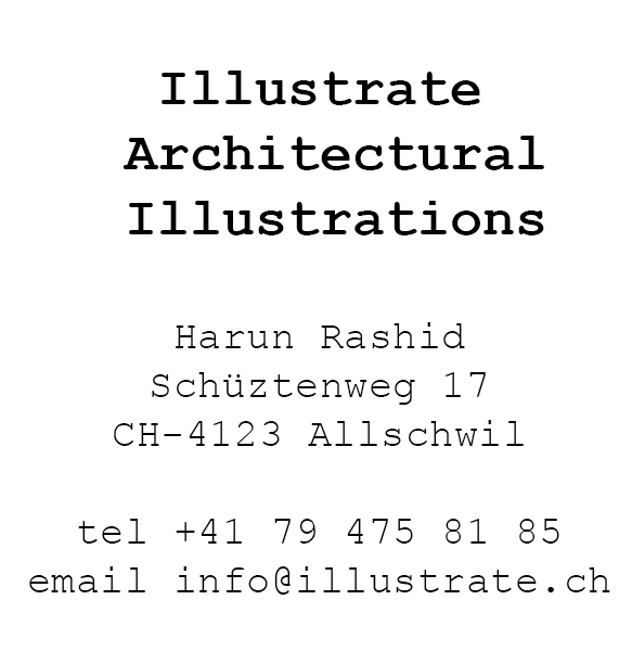 Illustrate Harun Rashid  Architectural Illustrations Basel