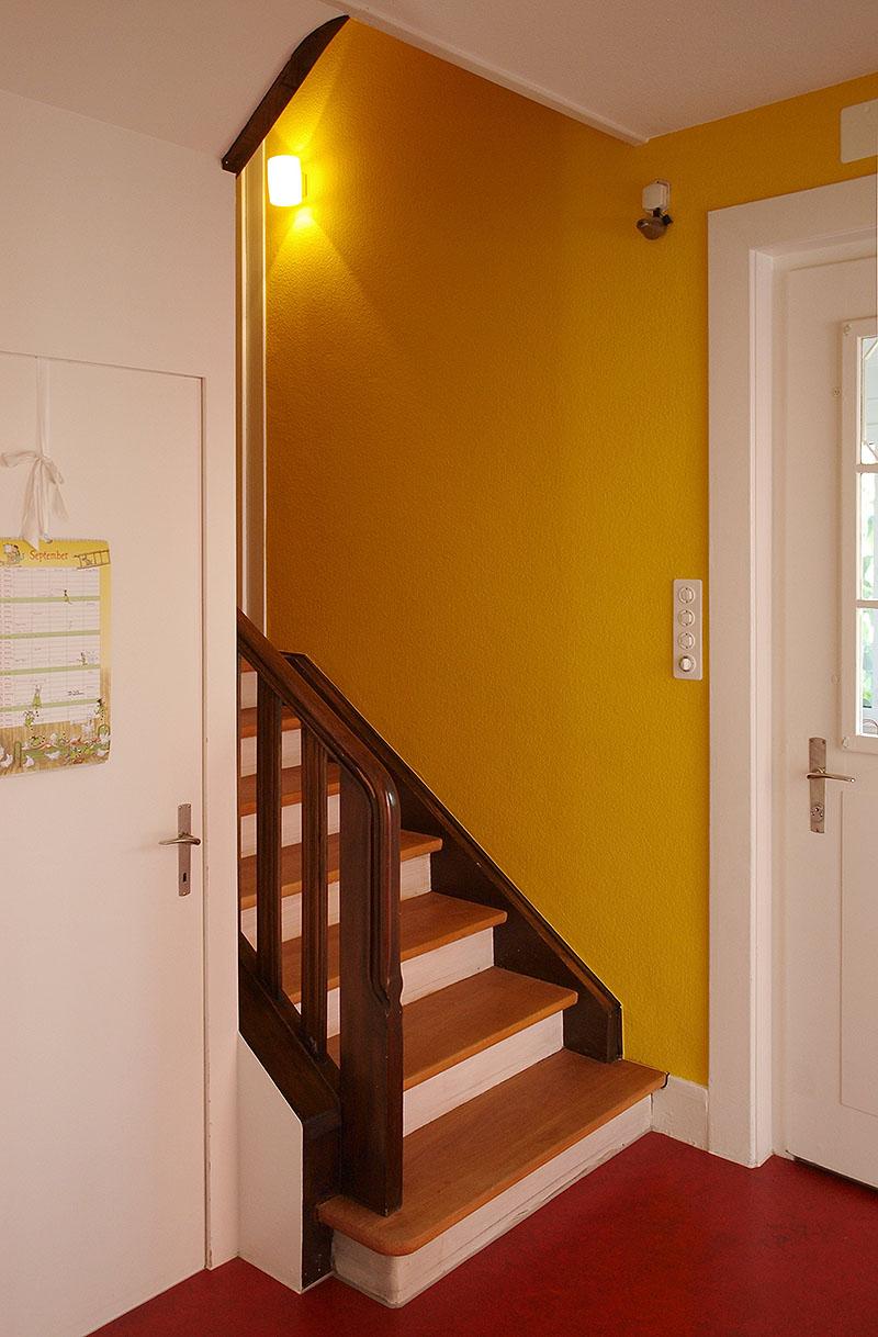 Farbgestaltung treppenhaus einfamilienhaus  f wie farbe - einfamilienhäuser