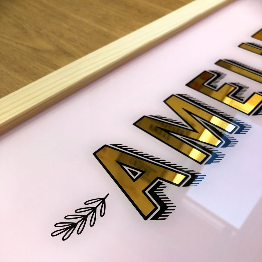 Glass Gilding, Hand Painted Signs, Signwriting, Etsy-Shop